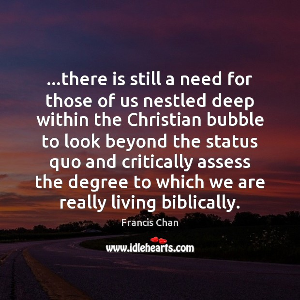 …there is still a need for those of us nestled deep within Image