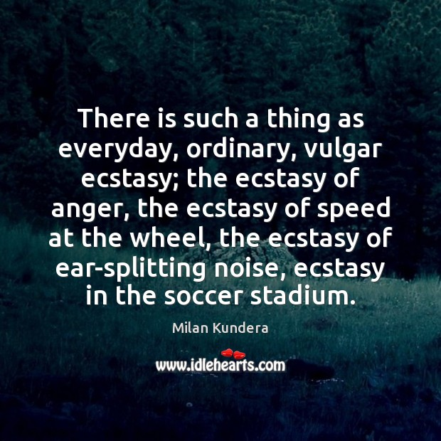 There is such a thing as everyday, ordinary, vulgar ecstasy; the ecstasy Soccer Quotes Image