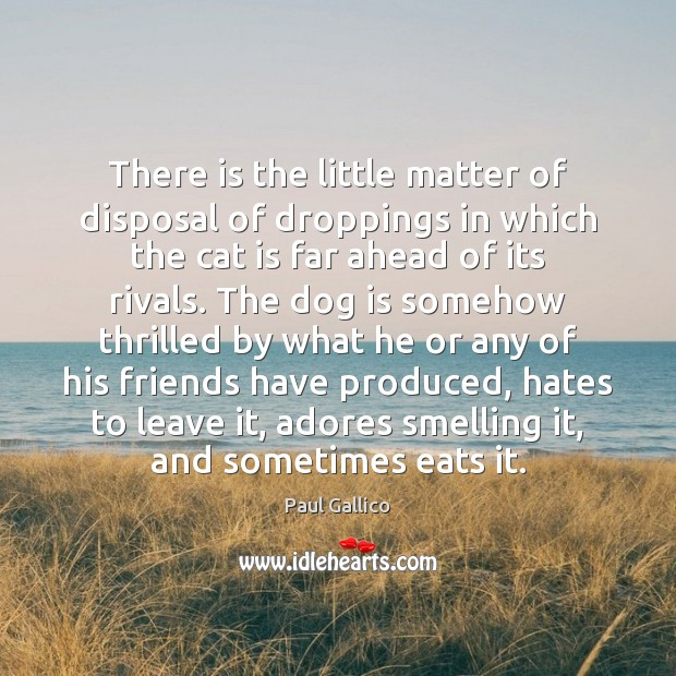 Image, There is the little matter of disposal of droppings in which the