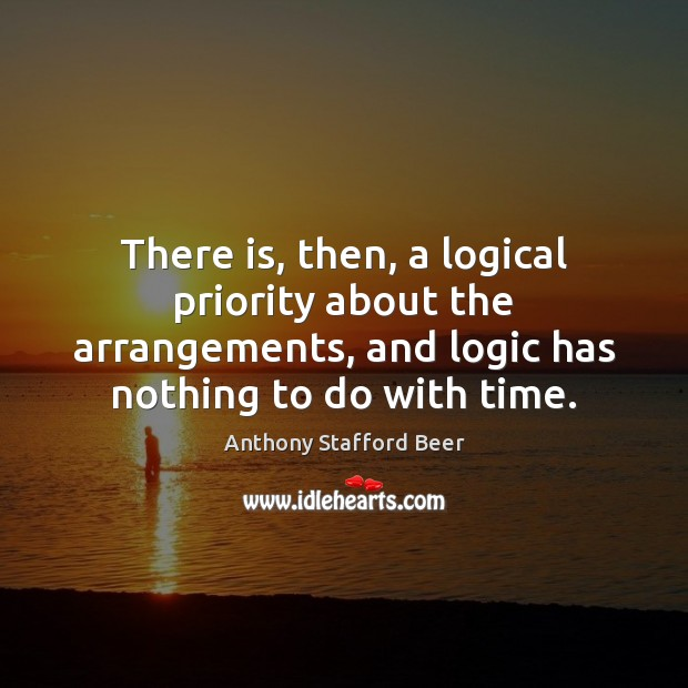 Image, There is, then, a logical priority about the arrangements, and logic has