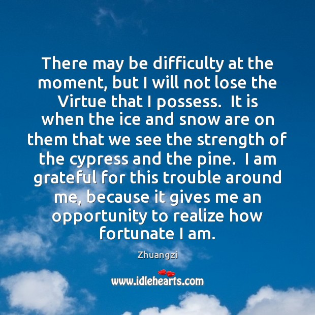 There may be difficulty at the moment, but I will not lose Image