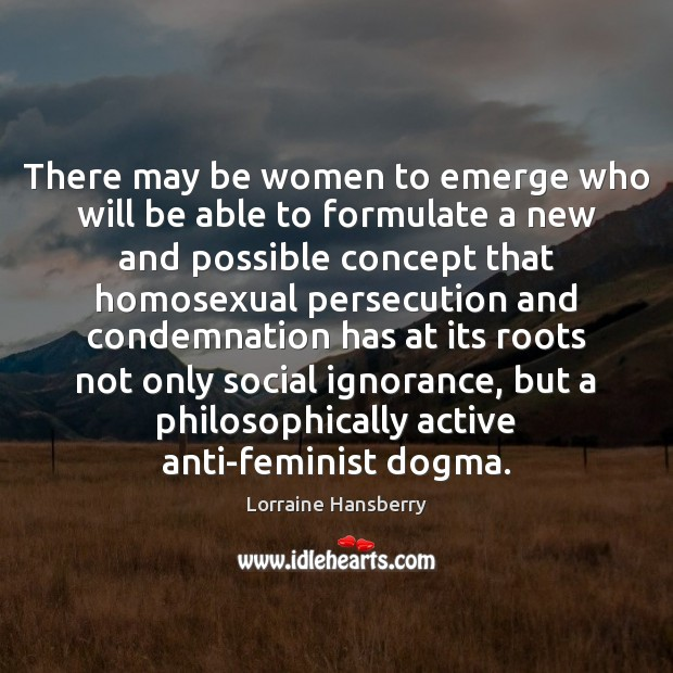 Image, There may be women to emerge who will be able to formulate