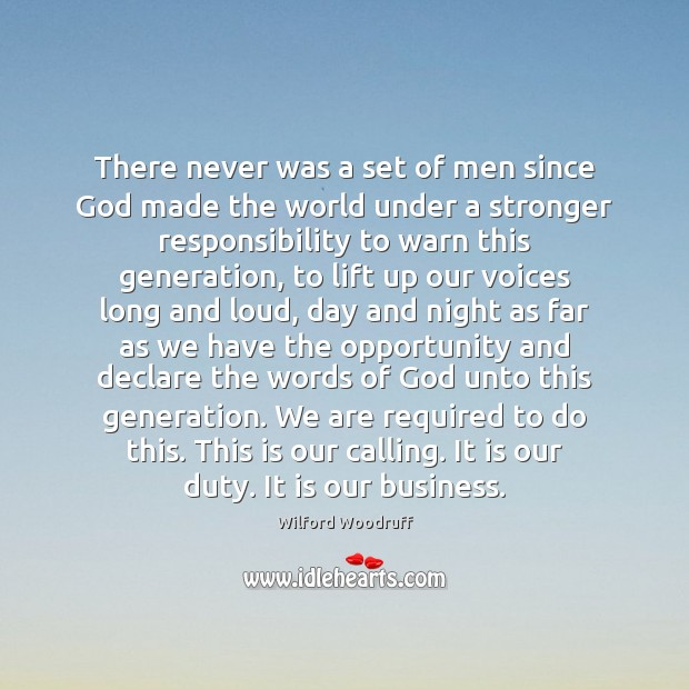 There never was a set of men since God made the world Image