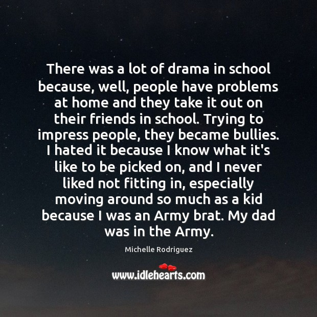 There was a lot of drama in school because, well, people have Image