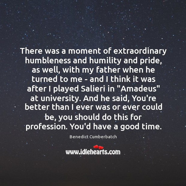 Image, There was a moment of extraordinary humbleness and humility and pride, as