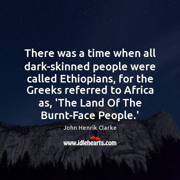 There was a time when all dark-skinned people were called Ethiopians, for Image