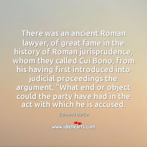 There was an ancient Roman lawyer, of great fame in the history Image