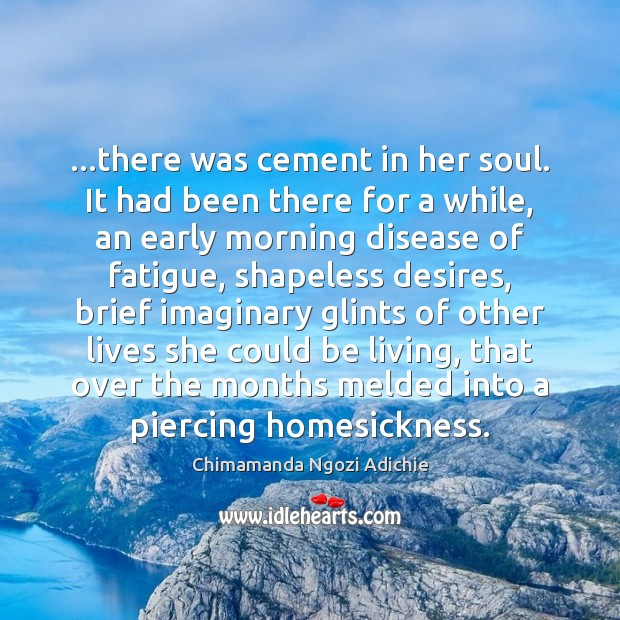 …there was cement in her soul. It had been there for a Image