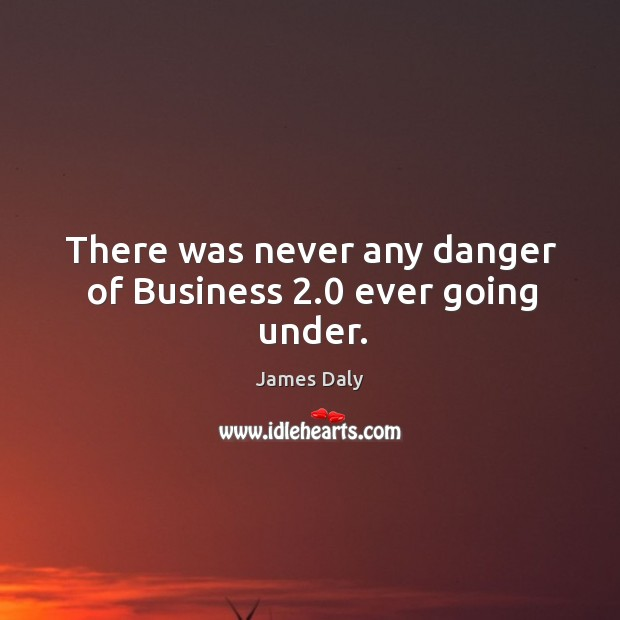 There was never any danger of business 2.0 ever going under. James Daly Picture Quote