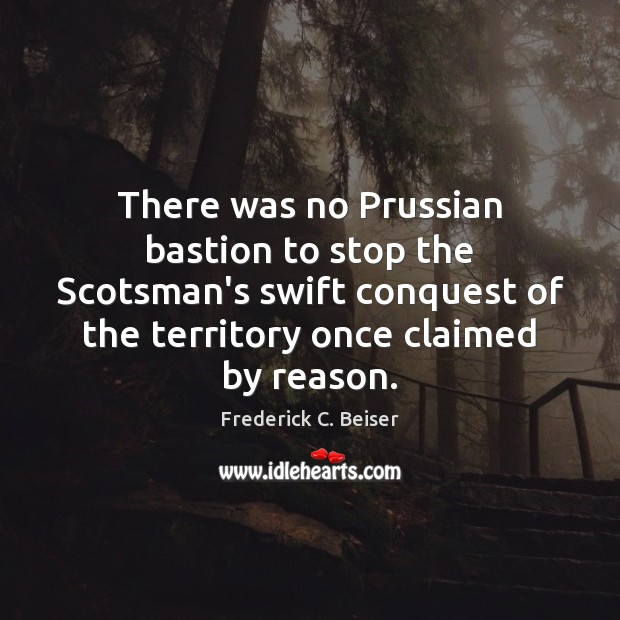 Image, There was no Prussian bastion to stop the Scotsman's swift conquest of