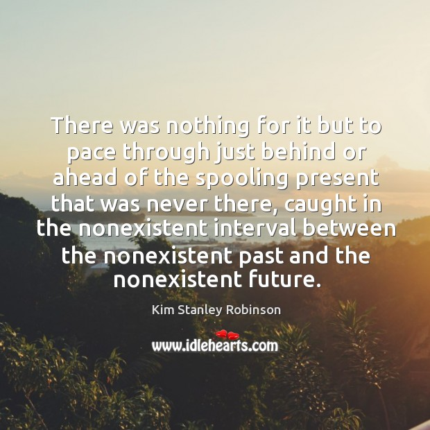 There was nothing for it but to pace through just behind or Kim Stanley Robinson Picture Quote