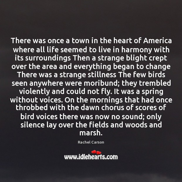 There was once a town in the heart of America where all Image