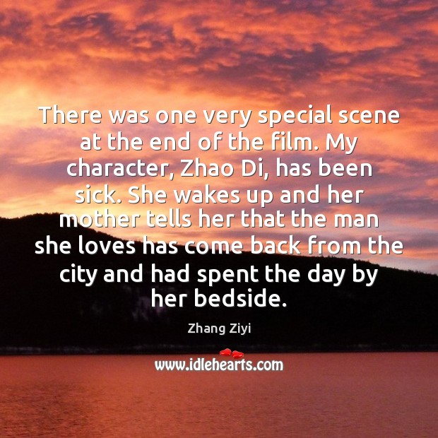 There was one very special scene at the end of the film. Zhang Ziyi Picture Quote