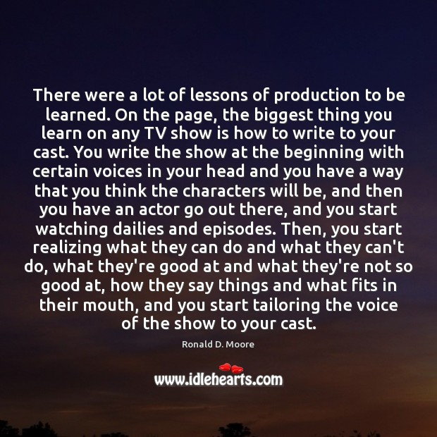 Image, There were a lot of lessons of production to be learned. On