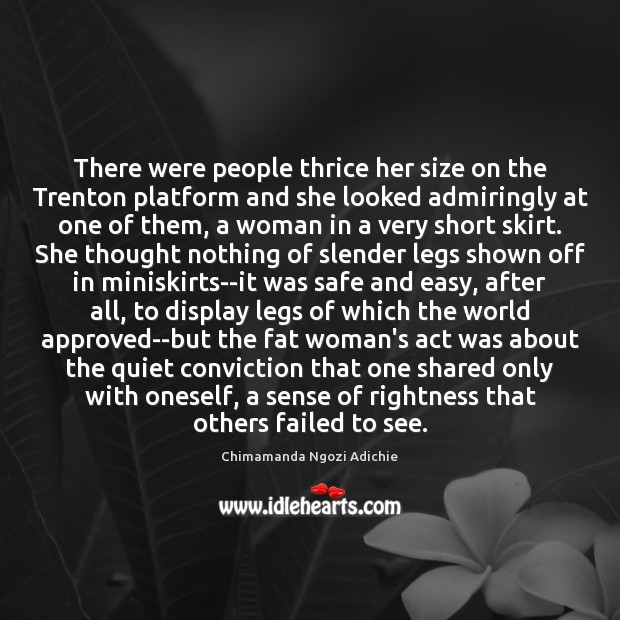 Image, There were people thrice her size on the Trenton platform and she
