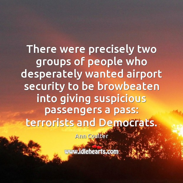 Image, There were precisely two groups of people who desperately wanted airport security