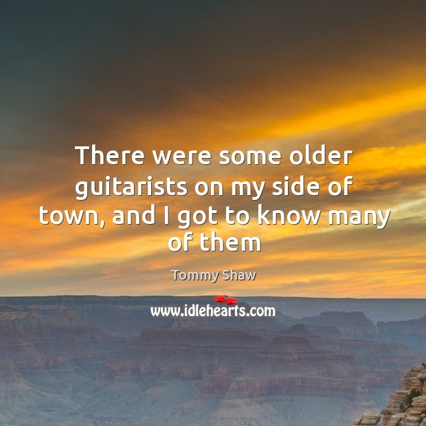 There were some older guitarists on my side of town, and I got to know many of them Image