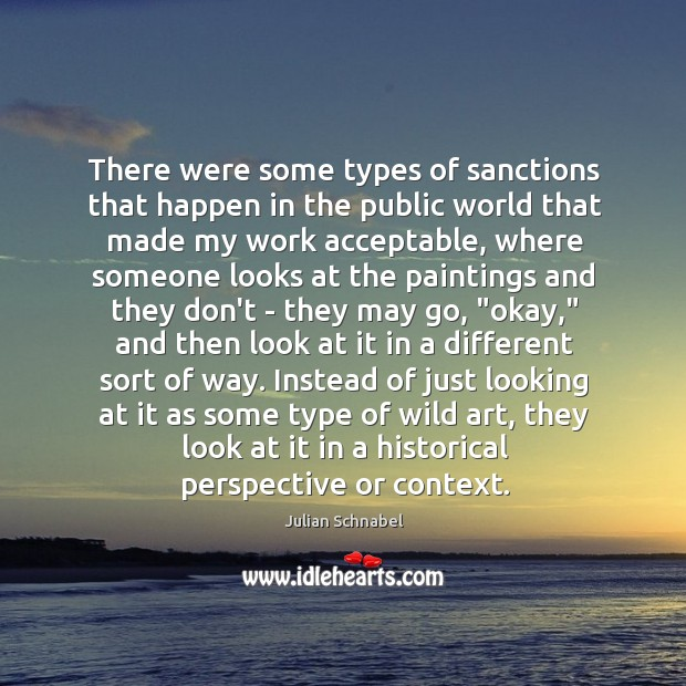 There were some types of sanctions that happen in the public world Image