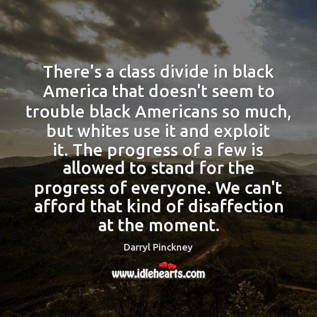 Image, There's a class divide in black America that doesn't seem to trouble