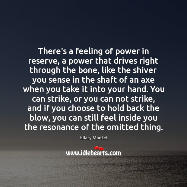 Image, There's a feeling of power in reserve, a power that drives right