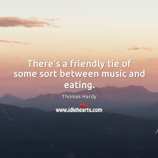 There's a friendly tie of some sort between music and eating. Image