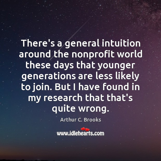There's a general intuition around the nonprofit world these days that younger Image