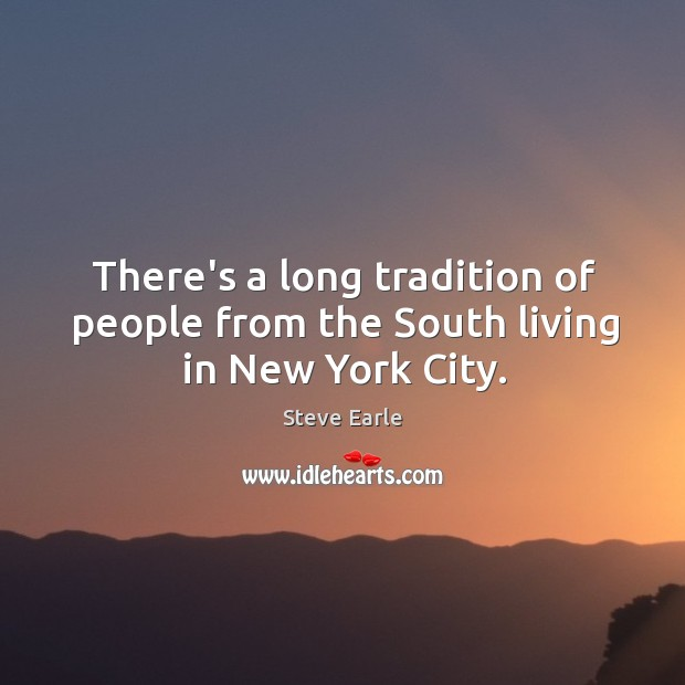 There's a long tradition of people from the South living in New York City. Image