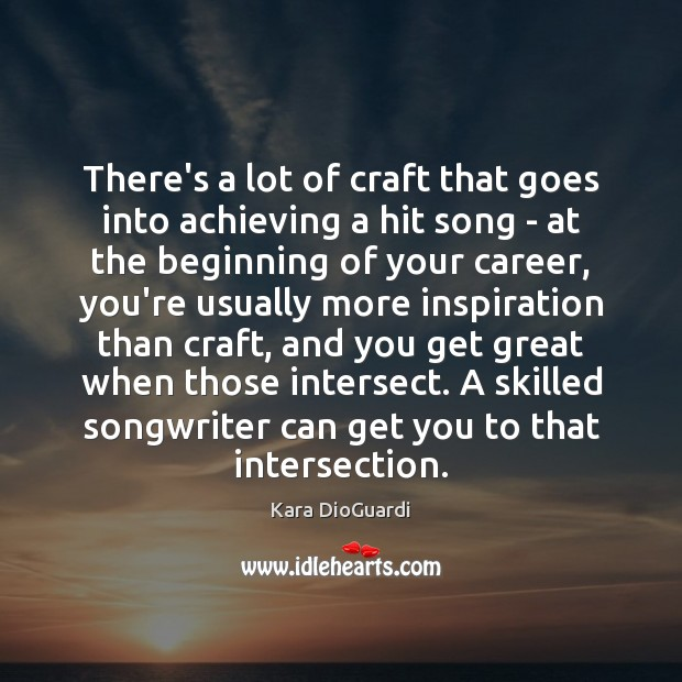 Image, There's a lot of craft that goes into achieving a hit song