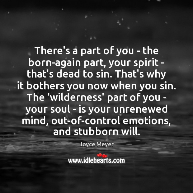 Image, There's a part of you – the born-again part, your spirit –