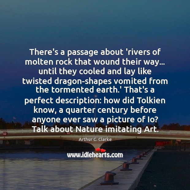 There's a passage about 'rivers of molten rock that wound their way… Image