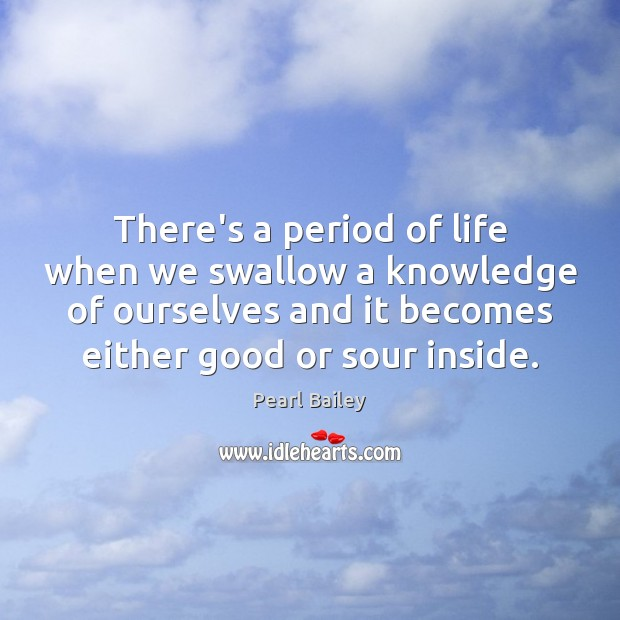 There's a period of life when we swallow a knowledge of ourselves Image