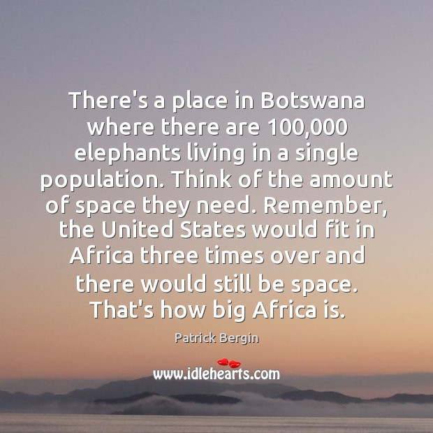 Image, There's a place in Botswana where there are 100,000 elephants living in a