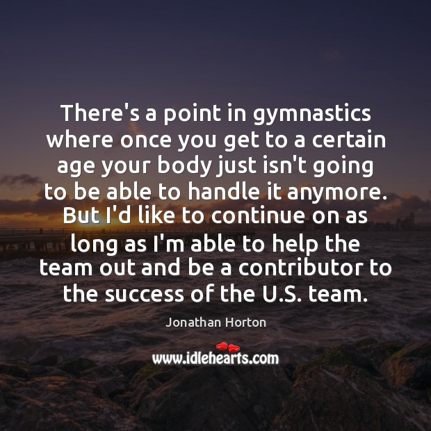 Image, There's a point in gymnastics where once you get to a certain