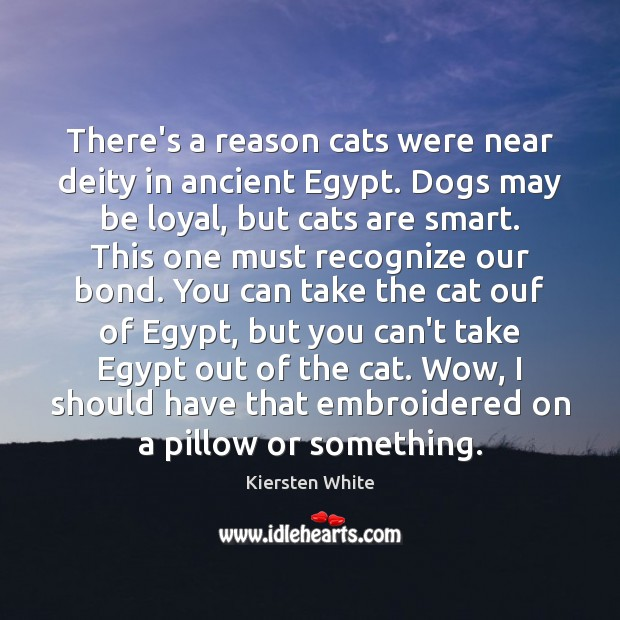 Image, There's a reason cats were near deity in ancient Egypt. Dogs may