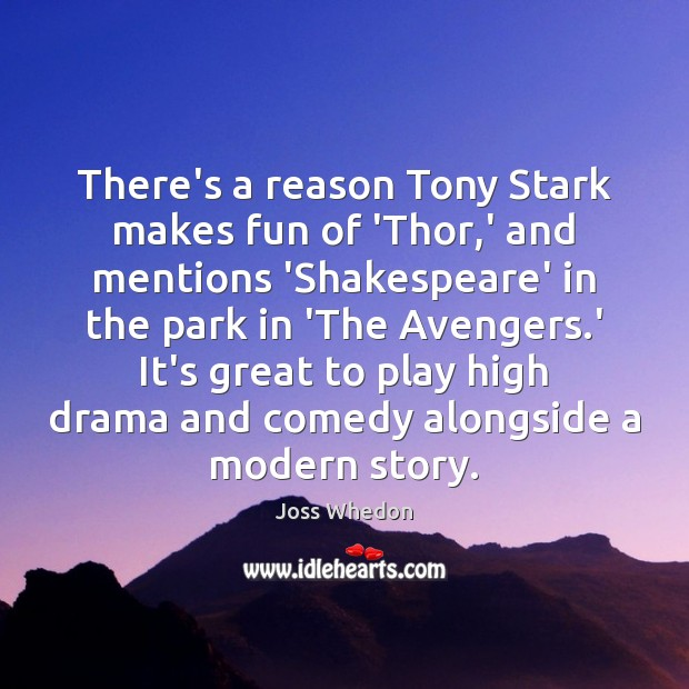 There's a reason Tony Stark makes fun of 'Thor,' and mentions Image