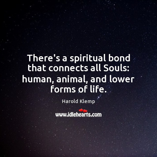 Image, There's a spiritual bond that connects all Souls: human, animal, and lower forms of life.