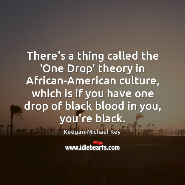 Image, There's a thing called the 'One Drop' theory in African-American culture, which