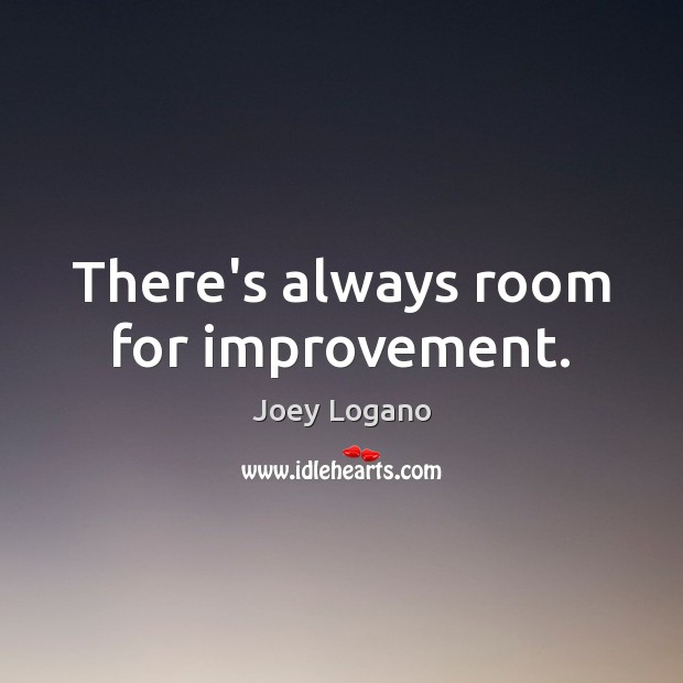 Image, There's always room for improvement.