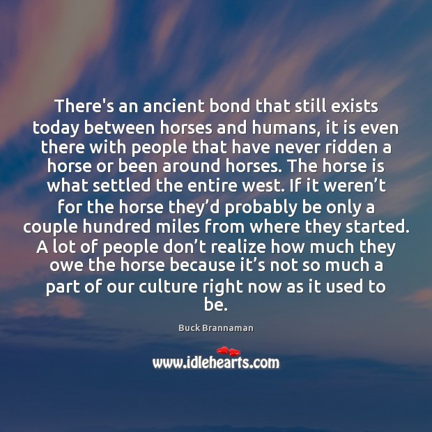 There's an ancient bond that still exists today between horses and humans, Image