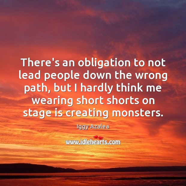 There's an obligation to not lead people down the wrong path, but Image