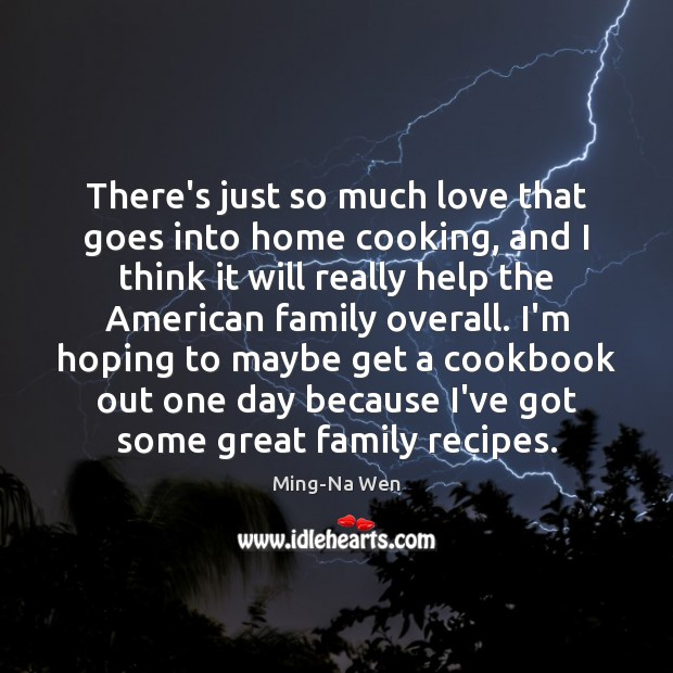 There's just so much love that goes into home cooking, and I Image