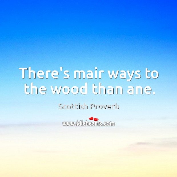 Image, There's mair ways to the wood than ane.