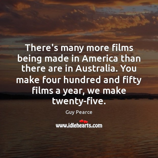 Image, There's many more films being made in America than there are in