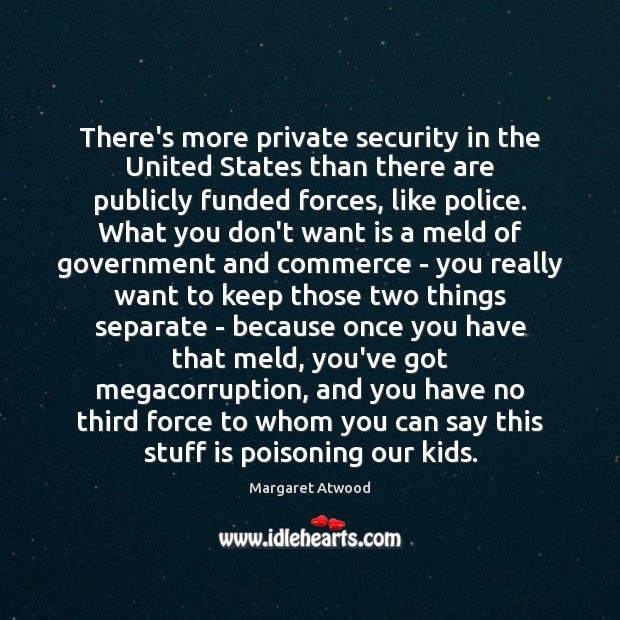 Image, There's more private security in the United States than there are publicly