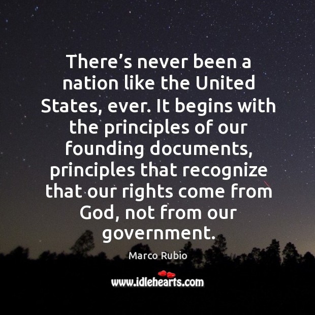 Image, There's never been a nation like the united states, ever.