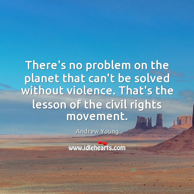 There's no problem on the planet that can't be solved without violence. Image