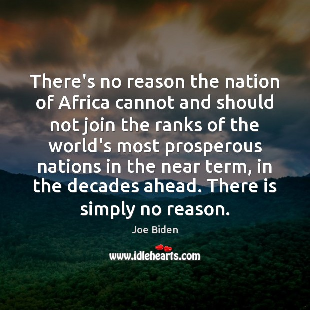 There's no reason the nation of Africa cannot and should not join Image