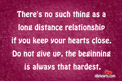 There's no such thing as a long distance. Image
