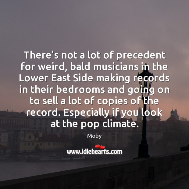 There's not a lot of precedent for weird, bald musicians in the Moby Picture Quote