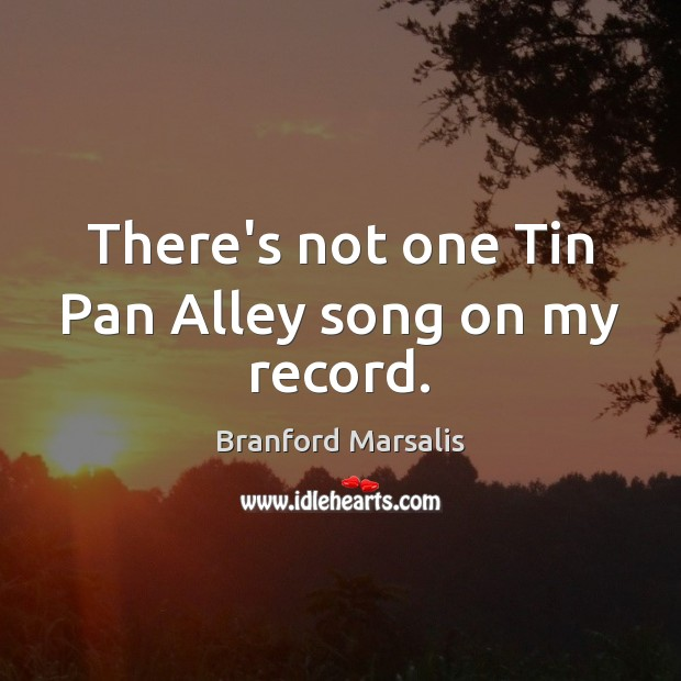Image, There's not one Tin Pan Alley song on my record.